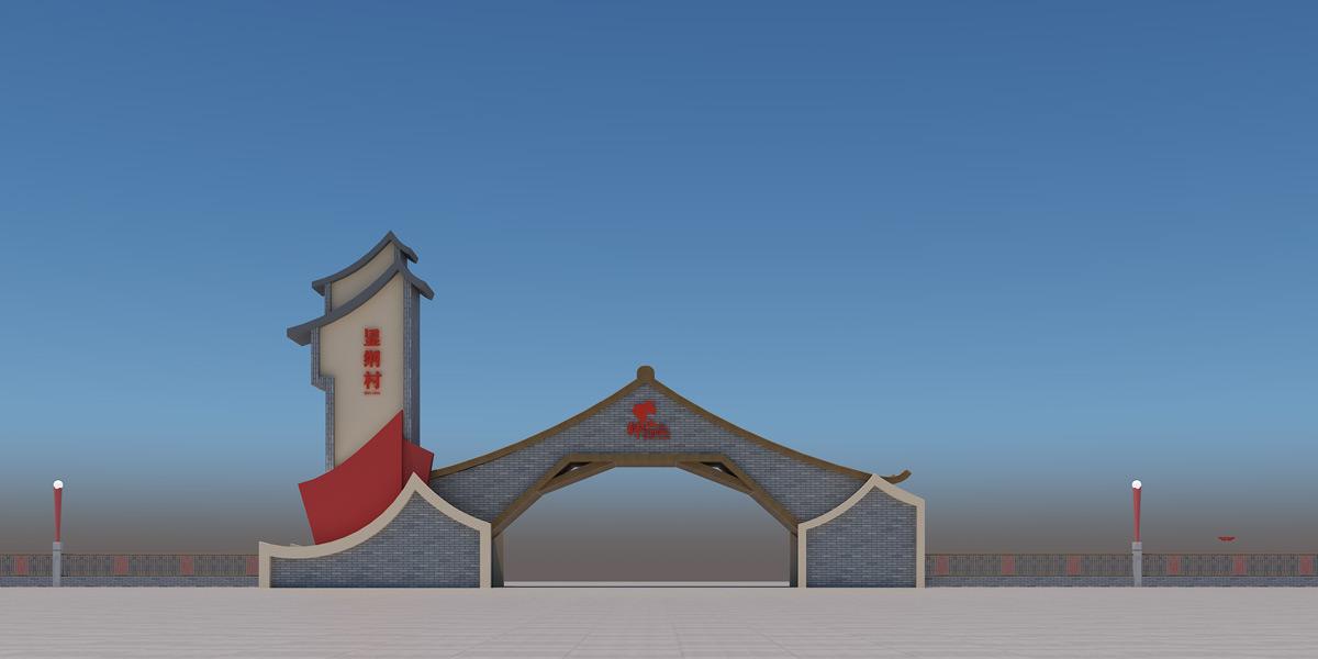 佛山显纳村——显纳村牌坊搭建