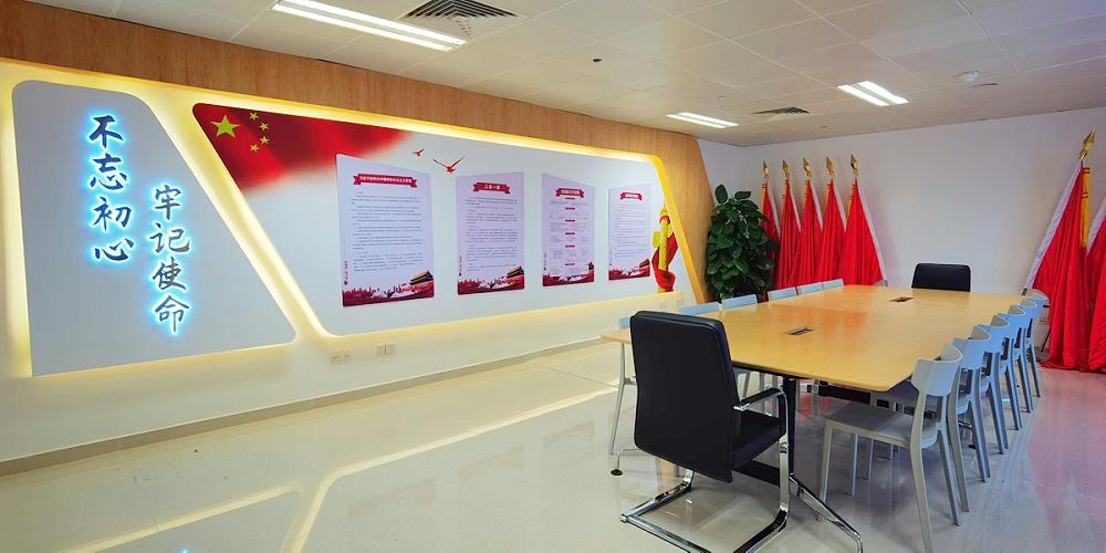 广州白云国际机场建党展厅设计搭建——励之闻展览设计搭建策划