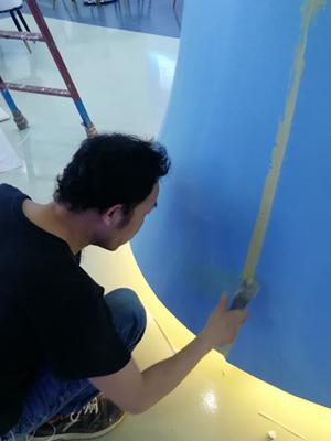 励之闻漆工组-漆面补缝