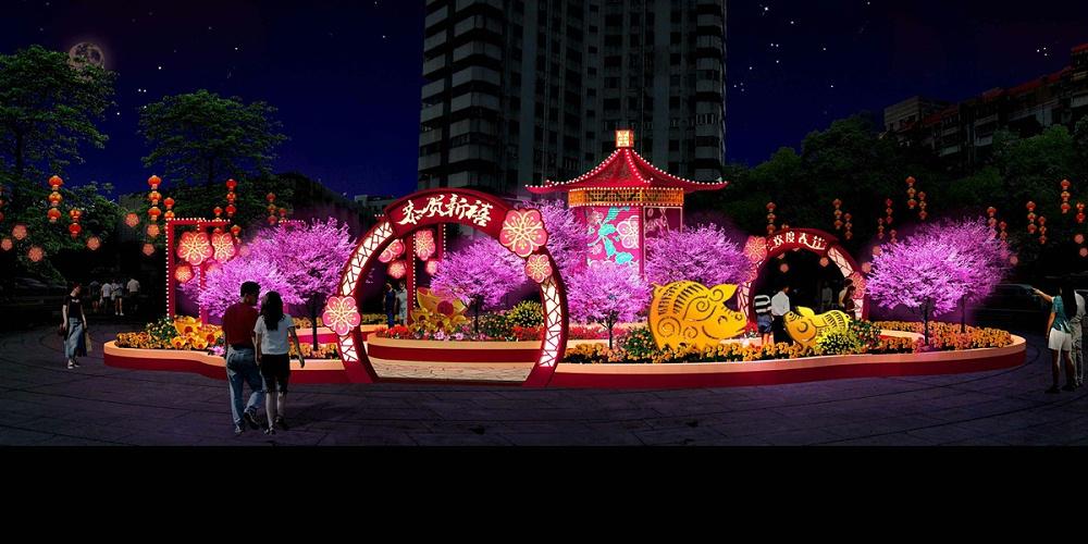 佛山市政——春节美陈搭建设计方案
